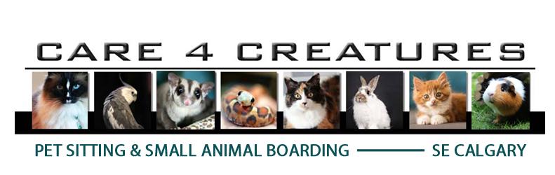 Calgary Pet Sitting - Care 4 Creatures